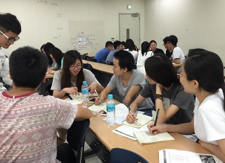 韩国留学课堂学习